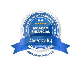 McAdam in the News: McAdam named a Top Ten Financial Advisor in Philadelphia in 2019